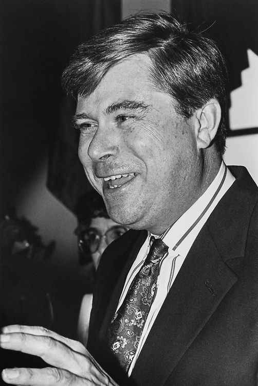 Close-up of Rep. Richard H. Lehman, D-Calif. at Democratic Convention on Nov. 19, 1992. (Photo by Laura Patterson/CQ Roll Call)