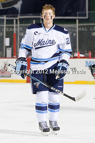 Mark Anthoine (Maine - 24) - The University of Maine Black Bears defeated the University of New Hampshire Wildcats 5-4 in overtime on Saturday, January 7, 2012, at Fenway Park in Boston, Massachusetts.