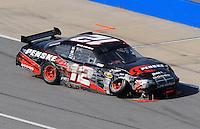 Apr 26, 2009; Talladega, AL, USA; NASCAR Sprint Cup Series driver David Stremme after crashing during the Aarons 499 at Talladega Superspeedway. Mandatory Credit: Mark J. Rebilas-