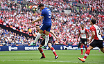 Alvaro Morata of Chelsea scores his goal to make it 2-0 during the FA cup semi-final match at Wembley Stadium, London. Picture date 22nd April, 2018. Picture credit should read: Robin Parker/Sportimage