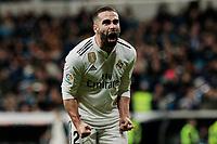 Real Madrid's Dani Carvajal celebrates goal during La Liga match between Real Madrid and Valencia CF at Santiago Bernabeu Stadium in Madrid, Spain. December 01, 2018. (ALTERPHOTOS/A. Perez Meca) /NortePhoto NORTEPHOTOMEXICO