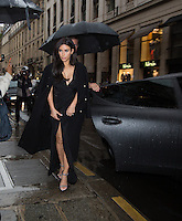 Kim Kardashian, sisters and friends enjoy a pre-wedding dinner at the 'Costes' restaurant in Paris