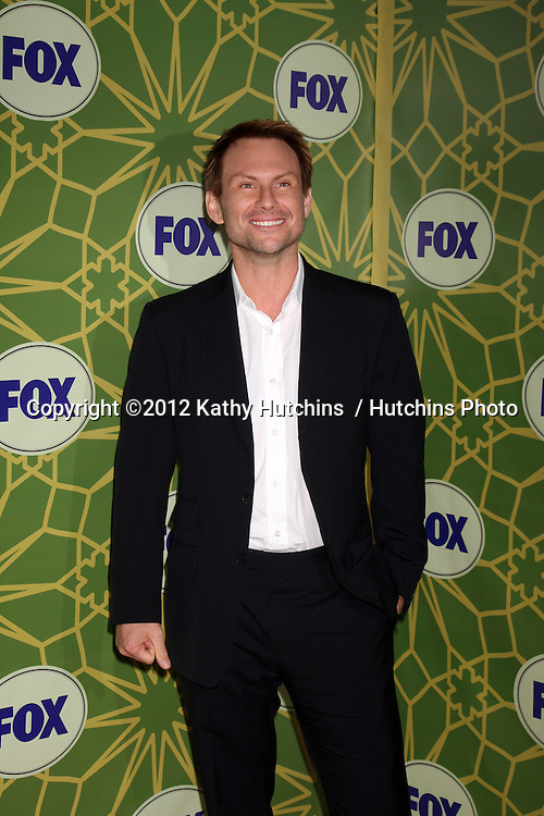 LOS ANGELES - JAN 8:  Christian Slater arrives at the Fox TCA Party - Winter 2012 at Castle Green on January 8, 2012 in Pasadena, CA