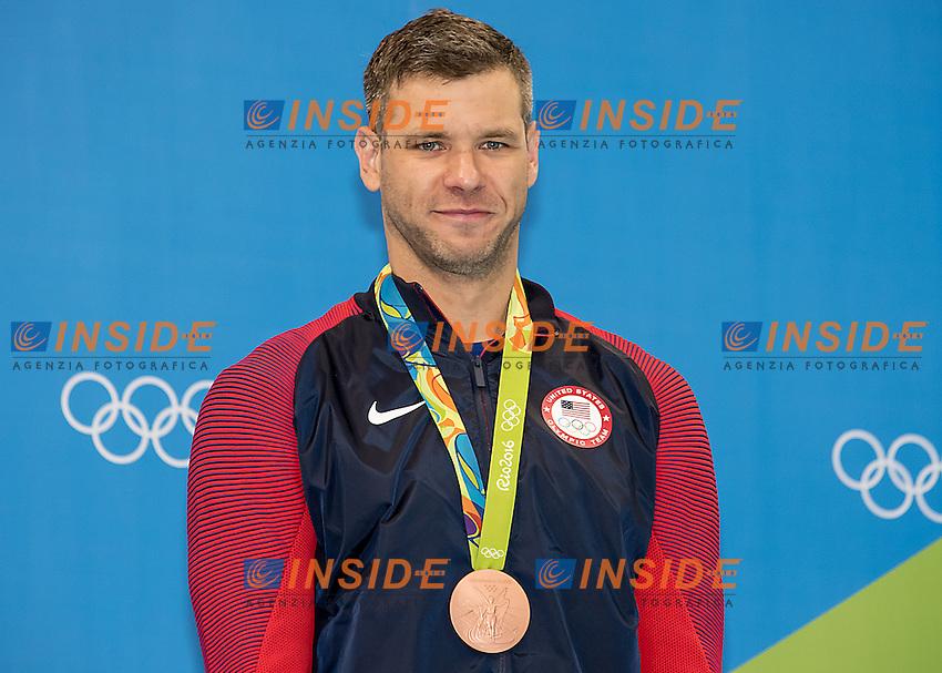 Plummer David USA bronze<br /> 100 backstroke men <br /> Rio de Janeiro  XXXI Olympic Games <br /> Olympic Aquatics Stadium <br /> swimming finals 08/08/2016<br /> Photo Giorgio Scala/Deepbluemedia/Insidefoto