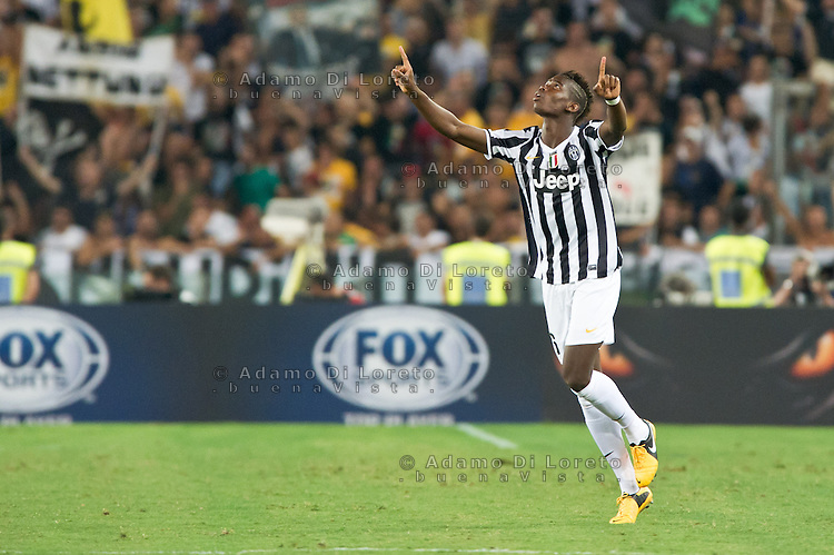 Juventus beat Lazio 4-0 in the Italian Supercoppa final match in Rome, Italy, on August 18, 2013. In the photo: Paul Pogba Juventus. Photo: Adamo Di Loreto/BuenaVista*photo