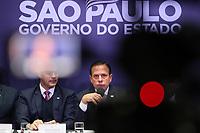"""SÃO PAULO, SP, 06.09.2019 - POLITICA-SP - João Doria, Governador de São Paulo, anuncia a modernização da gestão do sistema prisional paulista, o programa """"São Paulo Pra Todos"""", e a segunda etapa da campanha de combate à violência contra a mulher, no Palácio dos Bandeirantes, em São Paulo, nesta sexta-feira, 6. (Foto Charles Sholl/Brazil Photo Press/Folhapress)"""