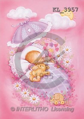 Interlitho, Penny, BABIES, paintings, baby girl, sleeping(KL3957,#B#) bébé, illustrations, pinturas ,everyday