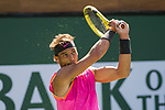 March 15, 2019: Rafael Nadal (ESP) in action where he defeated Karen Khachanov (RUS) 7-6, 7-6 at the BNP Paribas Open at the Indian Wells Tennis Garden in Indian Wells, California. ©Mal Taam/TennisClix/CSM
