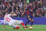 22.11.2014 Barcelona. La Liga day 12. Picture show Neymar Jr in action during game between FC Barcelona v Sevilla at Camp Nou