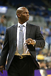 Nevada Head Coach David Carter works the sidelines against during an NCAA college basketball game against Utah State, in Reno, Nev., on Tuesday, Jan. 20, 2015. Utah State won 70-54. (AP Photo/Cathleen Allison)