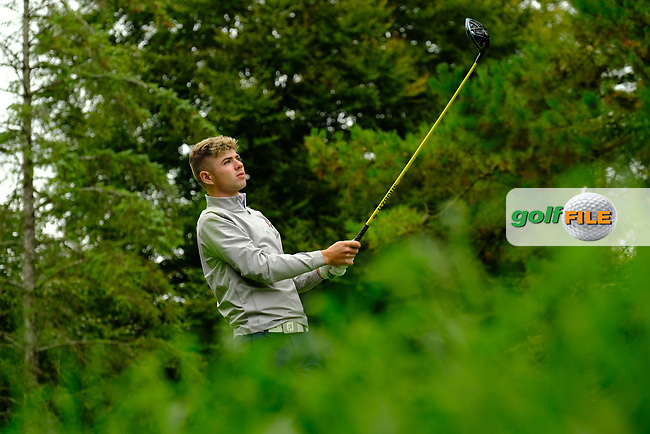 Reece Black (Ulster) during final day foursomes at the Interprovincial Championship 2018, Athenry golf club, Galway, Ireland. 31/08/2018.<br /> Picture Fran Caffrey / Golffile.ie<br /> <br /> All photo usage must carry mandatory copyright credit (© Golffile   Fran Caffrey)