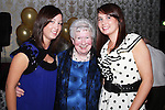 May Carpenter with grandchildren Ciara and Laura at her 80th birthday party in the Star and Crescent...Picture Jenny Matthews/Newsfile.ie