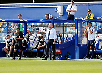 18th July 2020; The Kiyan Prince Foundation Stadium, London, England; English Championship Football, Queen Park Rangers versus Millwall; Queens Park Rangers Manager Mark Warburton looks on from the touchline