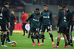 Adrien Rabiot, De Oliveira Wesley, Daniele Rugani, Danilo and Rodrigo Bentancur of Juventus pictured during the warm up before the Coppa Italia match at Giuseppe Meazza, Milan. Picture date: 13th February 2020. Picture credit should read: Jonathan Moscrop/Sportimage