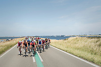 when exposed to the heavy sea winds, Team LottoNL-Jumbo (with Dylan Groenewegen up front) forces the peloton to break into echelons<br /> <br /> Ster ZLM Tour (2.1)<br /> Stage 2: Tholen &gt; Hoogerheide (186.8km)