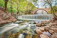 The double waterfall of Palaiokaria, Greece