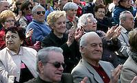 Incontro elettorale organizzato dal Pd al centro anziani della Garbatella, Roma, 5 aprile 2008..UPDATE IMAGES PRESS/Riccardo De Luca