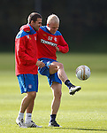 Steven Naismith having a laugh with David Healy