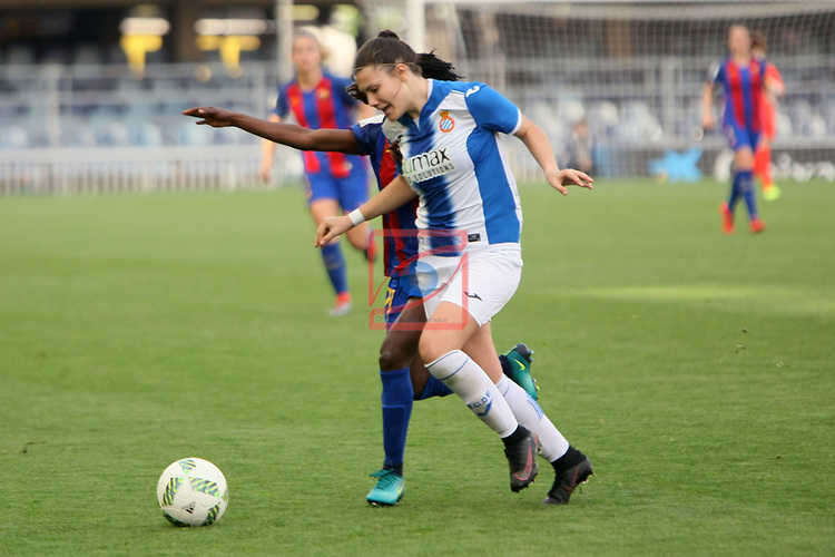 Spanish Women's Football League Iberdrola 2016/17 - Game: 21.<br /> FC Barcelona vs RCD Espanyol: 5-0.<br /> Maria Molina vs Ange Koko.