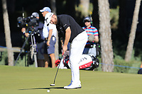 Shane Lowry (IRL) putts on the 16th green during Friday's Round 2 of the 2018 Turkish Airlines Open hosted by Regnum Carya Golf &amp; Spa Resort, Antalya, Turkey. 2nd November 2018.<br /> Picture: Eoin Clarke | Golffile<br /> <br /> <br /> All photos usage must carry mandatory copyright credit (&copy; Golffile | Eoin Clarke)