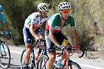 Fabio Aru (ITA) Astana and Vincenzo Nibali (ITA) Bahrain-Merida during Stage 15 of the 2017 La Vuelta, running 129.4km from Alcal&aacute; la Real to Sierra Nevada. Alto Hoya de la Mora. Monachil, Spain. 3rd September 2017.<br /> Picture: Unipublic/&copy;photogomezsport | Cyclefile<br /> <br /> <br /> All photos usage must carry mandatory copyright credit (&copy; Cyclefile | Unipublic/&copy;photogomezsport)