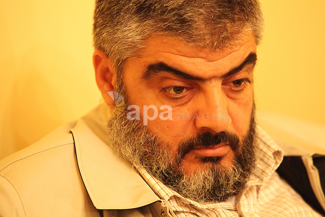In this picture taken on May 7,2011 in Cairo shows Kamal al-Nayrab, secretary-general of the Gaza-based group the Popular Resistance Committees (PRC), al-Nayrab was killed in an Israeli airstrike with five Palestinians medics said. The strike came as Israeli military forces fought to regain control in southern Israel after at least three attacks that killed seven people. Photo by Mohammed Hams