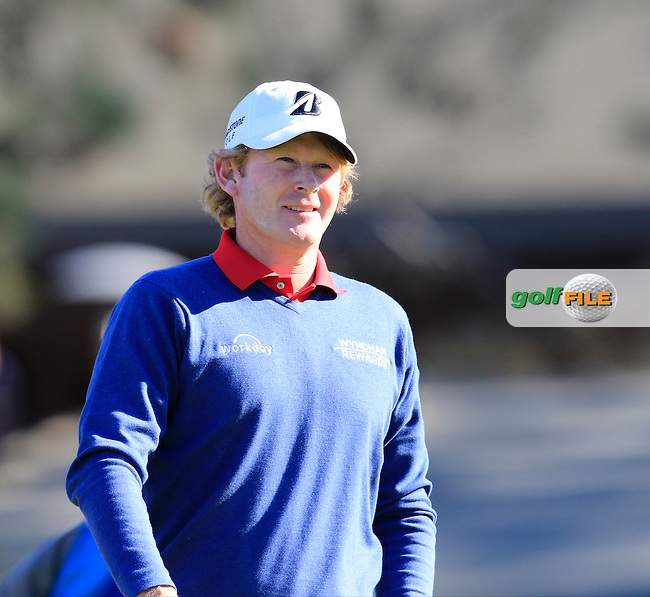 Brandt Snedeker (USA) walks off the 1st tee during Friday's Round 2 of the 2017 Farmers Insurance Open held at Torrey Pines Golf Course, La Jolla, San Diego, California, USA.<br /> 27th January 2017.<br /> Picture: Eoin Clarke | Golffile<br /> <br /> <br /> All photos usage must carry mandatory copyright credit (&copy; Golffile | Eoin Clarke)