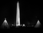 Members of Indian tribes from across the country gather on the Mall near the Washington Monument for protests, prayers, and demonstrations for human rights and to raise awareness of Native American Indian issues, in Washington DC, USA 09 March 2017.