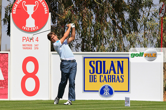 Robert Rock (ENG) tees off on the 8th hole during Thursday's Round 1 of the Open de Espana at Real Club de Golf de Sevilla, Seville, Spain, 3rd May 2012 (Photo Eoin Clarke/www.golffile.ie)