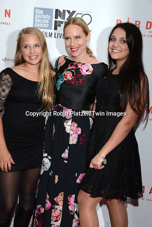 Amy Ryan and nieces  attends &quot;Birdman or The Unexpected Virtue of Ignorance&quot; screening at The 52nd New York Film Festival on October 11, 2014 at Alice Tully Hall in New York City. <br /> <br /> photo by Robin Platzer/Twin Images<br />  <br /> phone number 212-935-0770