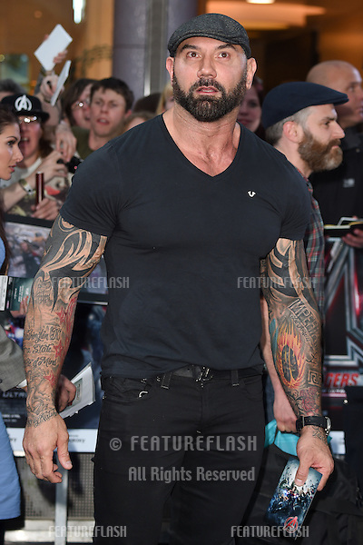 """Dave Bautista arrives for the """"Avengers: Age of Ultron"""" European premiere at the Vue cinema, Westfield London. 21/04/2015 Picture by: Steve Vas / Featureflash"""