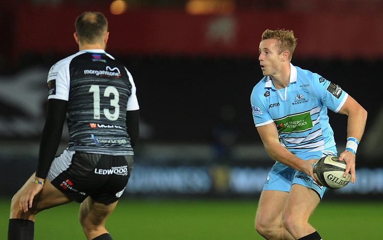 Glasgow Warriors' Brandon Thomson<br /> <br /> Photographer Kevin Barnes/CameraSport<br /> <br /> Guinness Pro14 Round 8 - Ospreys v Glasgow Warriors - Friday 2nd November 2018 - Liberty Stadium - Swansea<br /> <br /> World Copyright © 2018 CameraSport. All rights reserved. 43 Linden Ave. Countesthorpe. Leicester. England. LE8 5PG - Tel: +44 (0) 116 277 4147 - admin@camerasport.com - www.camerasport.com