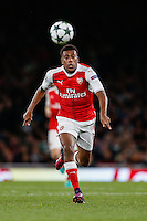 Alex Iwobi of Arsenal during the UEFA Champions League match between Arsenal and PFC Ludogorets Razgrad at the Emirates Stadium, London, England on 19 October 2016. Photo by David Horn / PRiME Media Images.
