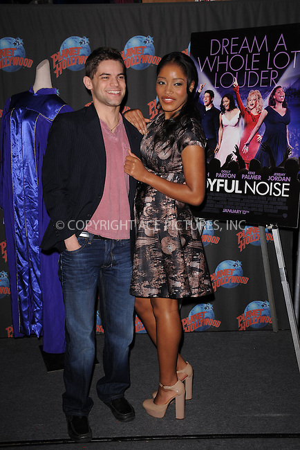 """WWW.ACEPIXS.COM . . . . . .January 13, 2012, New York City..... Jeremy Jordan and Keke Palmer at Planet Hollywood Times Square to promote their starring roles in Alcon Entertainment and Warner Bros. Pictures  """"JOYFUL NOISE""""  on January 13, 2012 in New York City...Please byline: KRISTIN CALLAHAN - ACEPIXS.COM.. . . . . . ..Ace Pictures, Inc: ..tel: (212) 243 8787 or (646) 769 0430..e-mail: info@acepixs.com..web: http://www.acepixs.com ."""