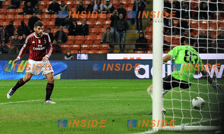 "Il gol di Antonio NOCERINO (Milan) goal celebration.Milano 26/10/2011 Stadio ""Giuseppe Meazza"".Serie A 2011/2012.Football Calcio Milan Vs Parma.Foto Insidefoto Alessandro Sabattini."