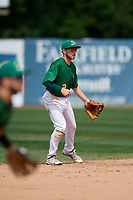 Beloit Snappers shortstop Nick Allen (2) during a game against the Dayton Dragons on July 22, 2018 at Pohlman Field in Beloit, Wisconsin.  Dayton defeated Beloit 2-1.  (Mike Janes/Four Seam Images)