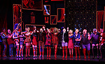 "Wayne Brady, Jake Shears and Kirstin Maldonado with cast during the Curtain Call for Wayne Brady's return to ""Kinky Boots"" on Broadway on March 5, 2018 at the Hirschfeld Theatre in New York City."