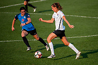 Kansas City, MO - Sunday September 3, 2017: Christina Gibbons, Sarah Killion during a regular season National Women's Soccer League (NWSL) match between FC Kansas City and Sky Blue FC at Children's Mercy Victory Field.