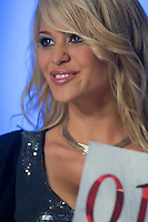 Contestant Marianna Bertok participates the Beauty Queen live TV show hosting the joint beauty contests Miss World Hungary, Miss Universe Hungary and Miss Earth Hungary, held in Hungary's tv2 television headquarter in Budapest, Hungary on July 14, 2011. ATTILA VOLGYI