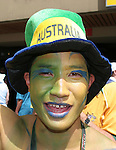 26 June 2006: An Australia fan. Italy (1st place in Group E) played Australia (2nd place in Group F) at Fritz-Walter Stadion in Kaiserslautern, Germany in match 53, a Round of 16 game, in the 2006 FIFA World Cup.