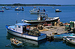 Lobster boats in the Cranberry Isles, Maine, USA.