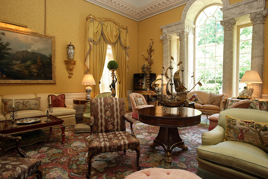 The view of the sitting room at the Albemarle Estate located in Albemarle County, Va. (Credit Image: © Andrew Shurtleff)..