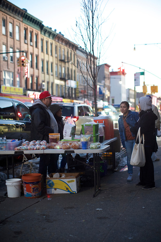 BROOKLYN, NY - March 19, 2017: A walk down Fifth Avenue in Sunset Park.<br /> <br /> Credit: Clay Williams.<br /> <br /> &copy; Clay Williams / http://claywilliamsphoto.com