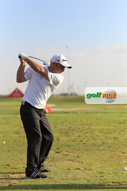 Paul McGinley (IRL) European Ryder Cup Captain 2014 Swing sequence pictured at the Abu Dhabi HSBC Golf Championship in the Abu Dhabi golf club, Abu Dhabi, UAE..Picture: Fran Caffrey/www.golffile.ie.
