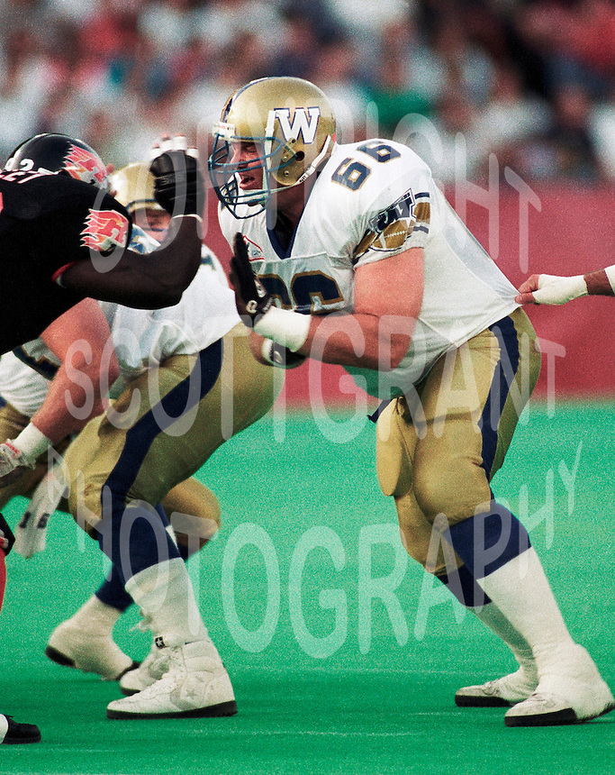 Miles Gorrell Winnipeg Blue Bombers 1992. Copyright photograph Scott Grant