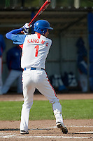 14 September 2009: Second base Myung-Gu Kang of South Korea is seen at bat during the 2009 Baseball World Cup Group F second round match game won 15-5 by South Korea over Great Britain, in the Dutch city of Amsterdan, Netherlands.