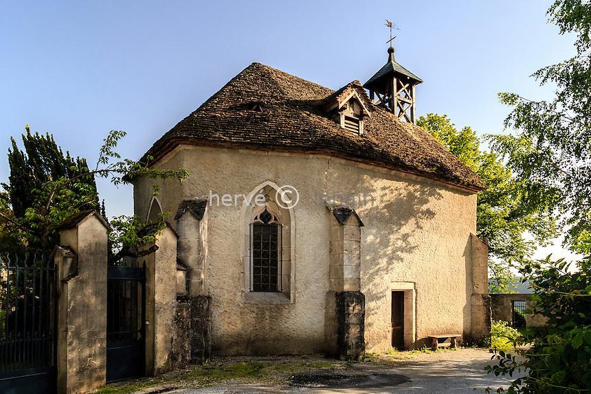 France, Doubs (25), Ornans, le promontoir du château, chapelle Saint-Georges // France, Doubs, Ornans, Saint Georges chapel
