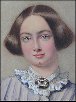 BNPS.co.uk (01202 558833)<br /> Pic: JPHumbert/BNPS.<br /> <br /> Jane Eyre author Charlotte Bronte wearing a jet brooch, who outlived her tragic sisters.<br /> <br /> A &quot;nationally important&quot; unseen portrait of the Bronte sisters has sold for &pound;50,000 more than 180 years later.<br /> <br /> The watercolour painting is believed to be of Emily, Charlotte and Anne Bronte, painted in 1834 by a young Edwin Landseer, who struck up a friendship with the family, before he became Queen Victoria's favourite painter.<br /> <br /> Only one other picture exists of the three sisters, who produced such classic' novels as Wuthering Heights, Jane Eyre and Agnes Grey before two of them died tragically young.<br /> <br /> The owner together with auctioneers J P Humbert have spent nine years extensively researching the artwork to find evidence that backs up their theory and convince academics.<br /> <br /> The painting sold for &pound;40,550 hammer price, &pound;50,038 including buyers premium to a private art investor believed to be UK based who apparently plans to complete research on the portrait and re-sell it at a later date.