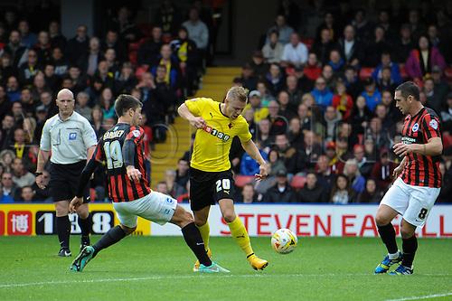 04.10.2014.  Watford, England. Matej Vydra. Skybet Championship. Watford versus Brighton and Hove Albion.