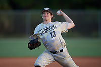Noah Overton (13) during the WWBA World Championship at the Roger Dean Complex on October 13, 2019 in Jupiter, Florida.  Noah Overton attends Charles B Aycock High School in Pikeville, NC and is committed to UNC-Wilmington.  (Mike Janes/Four Seam Images)